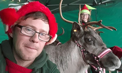 Festive Fishers Mobile Farm with Ben & his reindeer