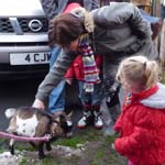 Dillon's Birthday Party in Burnley - meeting Plum